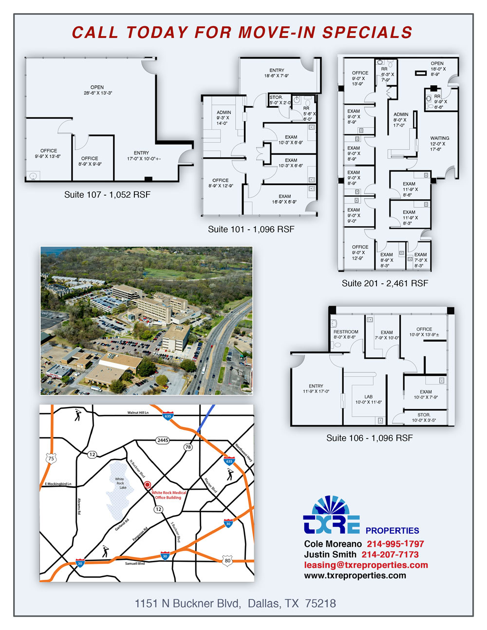 One Mockingbird Plaza office suite floor plan